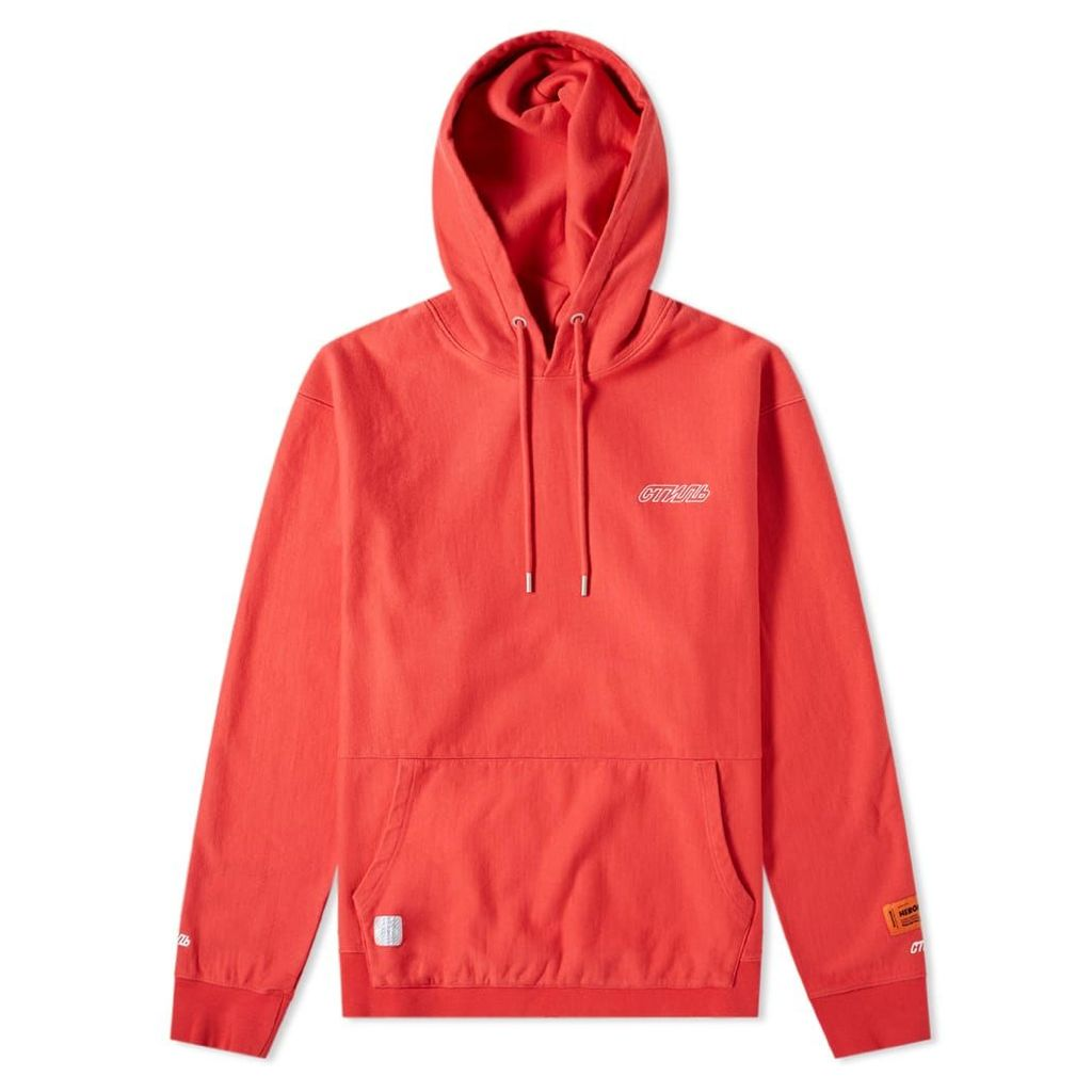Heron Preston CTNMB Hoody Coral Red