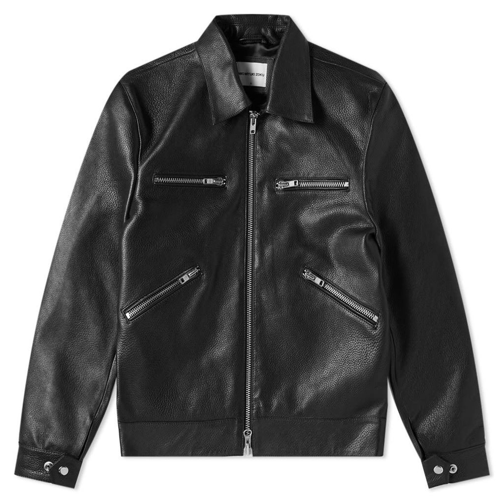 MKI Leather Rider Jacket Black