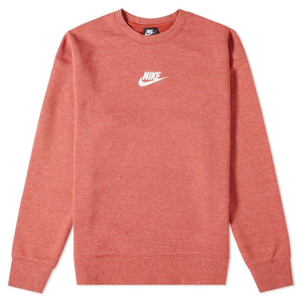 Nike Heritage Crew Sweat Orange & Heather & Sail