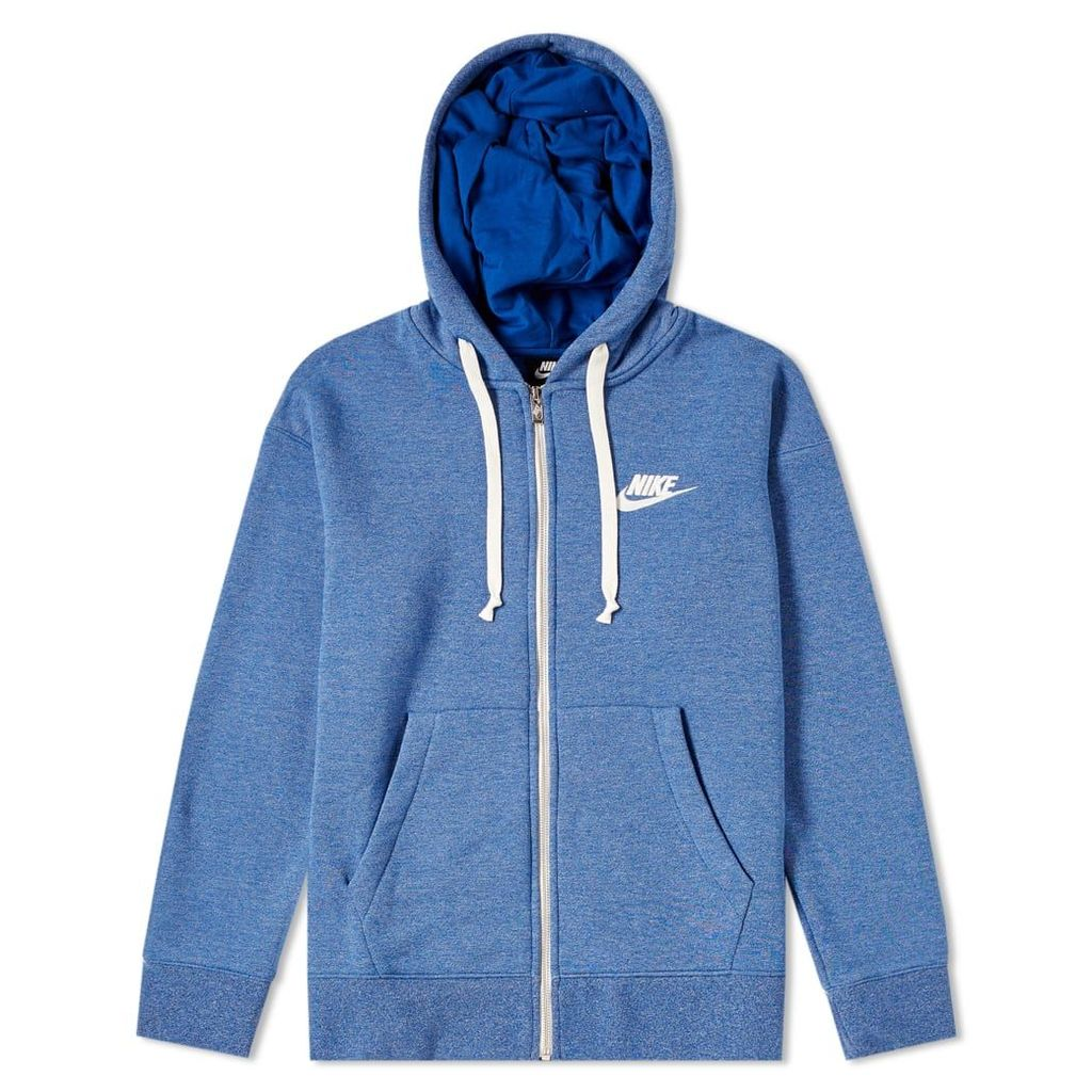 Nike Heritage Full Zip Hoody Indigo Force, Heather & Sail
