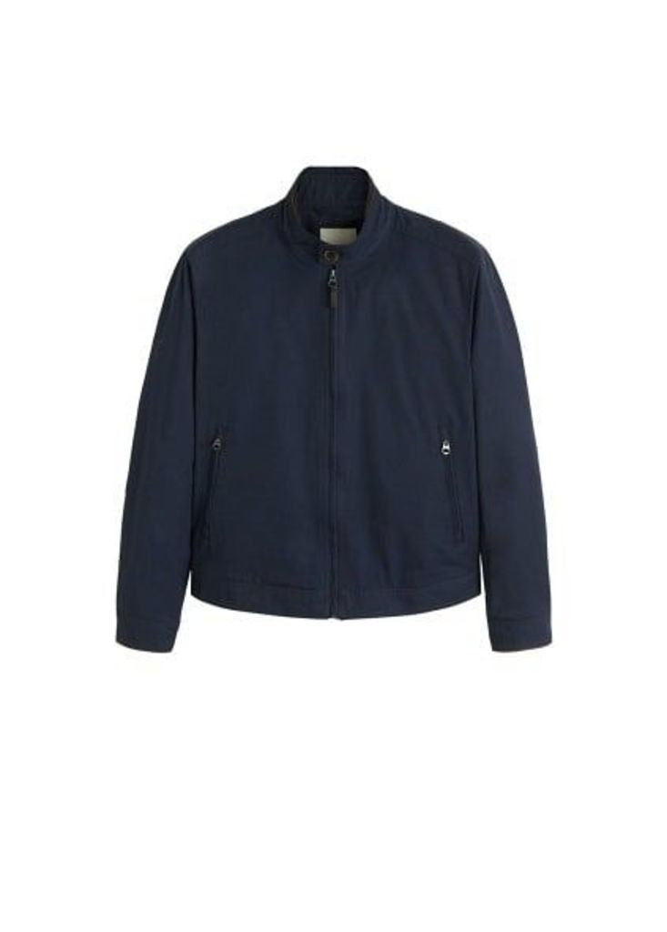 Elbow-patched cotton jacket