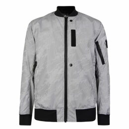 Stone Island Shadow Project Lenticular Stripe Bomber Jacket