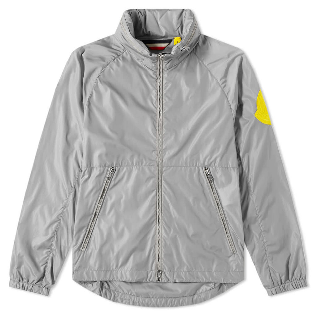Moncler Genius - 2 Moncler 1952 - Octagon Colour Patch Zip Hooded Windbreaker Grey & Yellow