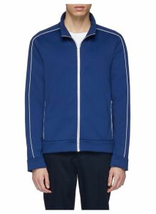 Piped sleeve track jacket