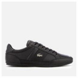 Lacoste Men's Chaymon Bl 1 Leather Low Profile Trainers - Black/Black - UK 7