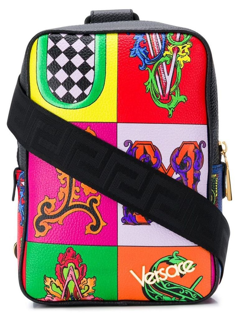 Versace Alphabet print backpack - Red