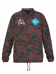 Undercover - Camouflage Print Computer Patch Jacket - Mens - Red