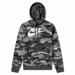 Nike NSW Camo Club Popover Hoody Grey, Anthracite & White