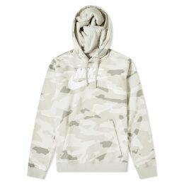 Nike NSW Camo Club Popover Hoody Spruce Fog & White