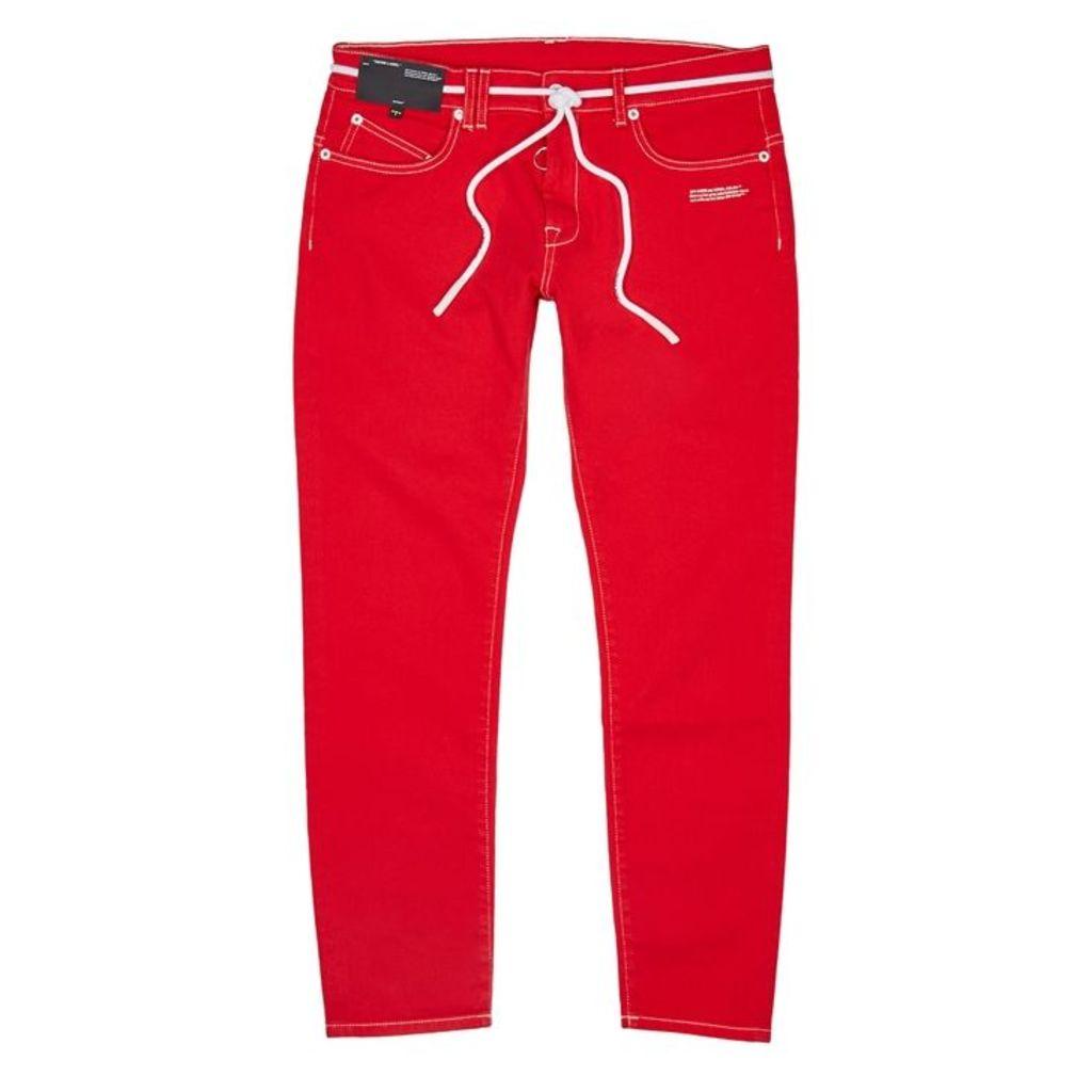 Off-White Red Slim-leg Jeans