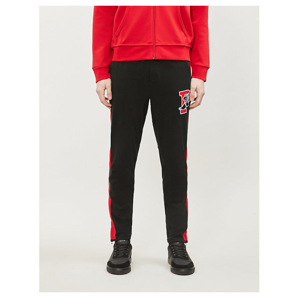 P-Wing embroidered cotton-jersey jogging bottoms