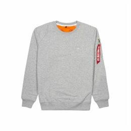Alpha Industries X-Fit Grey Cotton-blend Sweatshirt