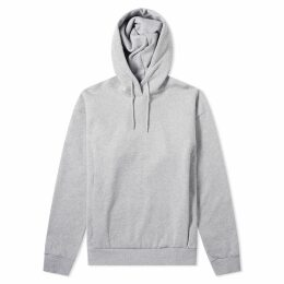 Martine Rose Embroidered Logo Popover Hoody Grey
