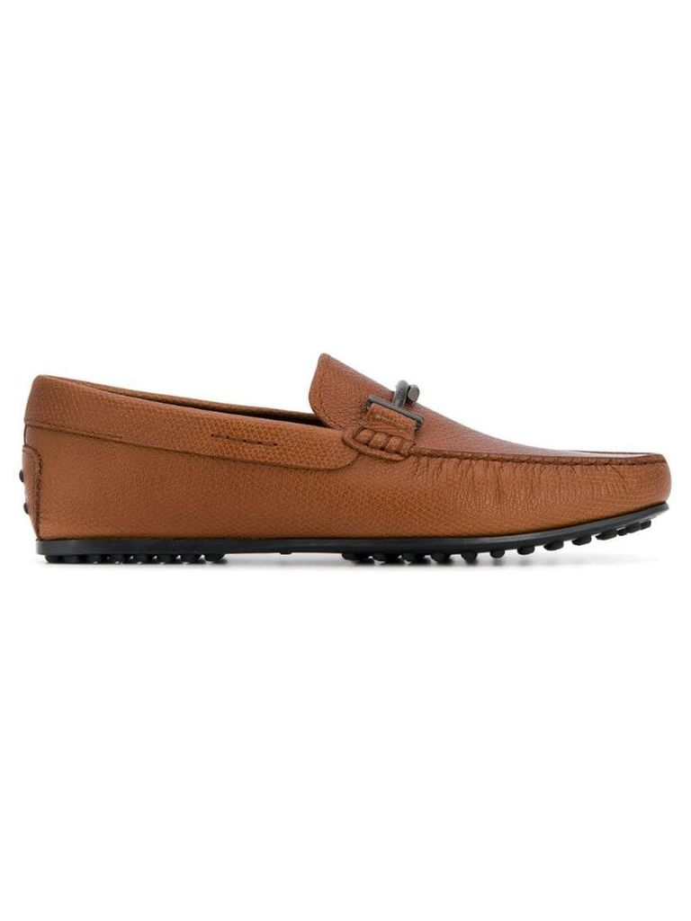 Tod's Double T Gommino loafers - Brown