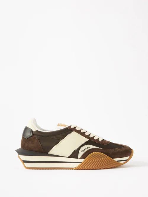 Balenciaga - Straight Leg Cotton Chino Trousers - Mens - Beige