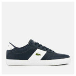 Lacoste Men's Court-Master 119 2 Perforated Leather Trainers - Navy/White - UK 10 - Navy/White