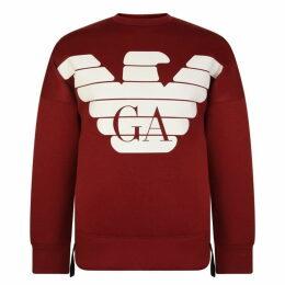 Emporio Armani Rubber Eagle Logo Sweatshirt