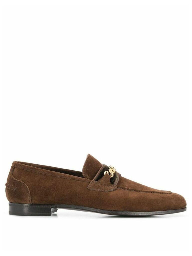 Tom Ford chain embellished loafers - Brown