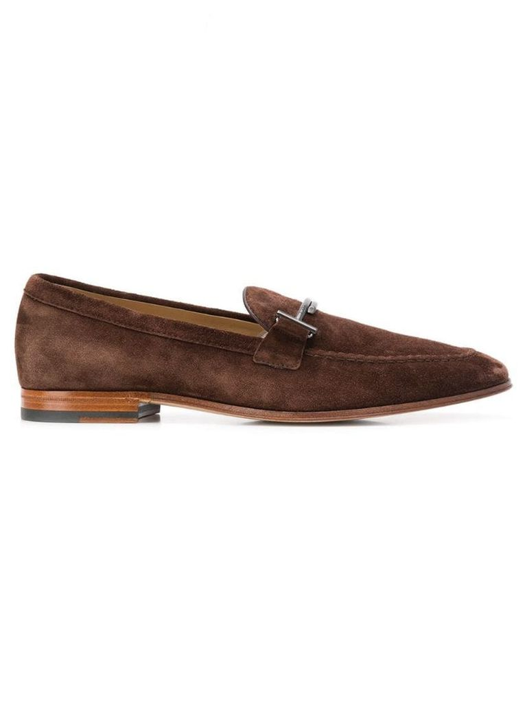 Tod's double T loafers - Brown