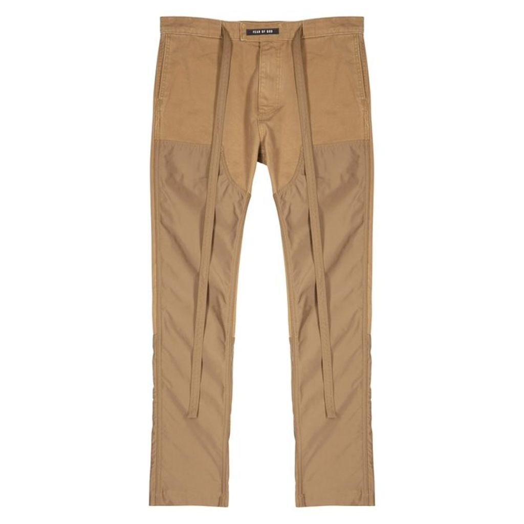 Fear Of God Camel Straight-leg Cotton Trousers