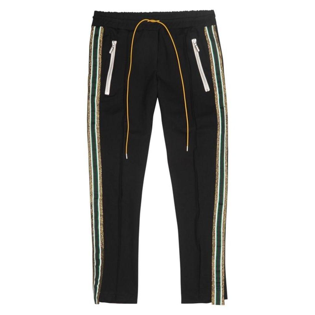RHUDE Traxedo Black Jersey Sweatpants