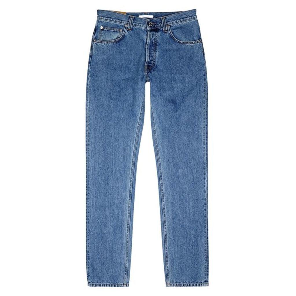 Helmut Lang Blue Slim-leg Jeans