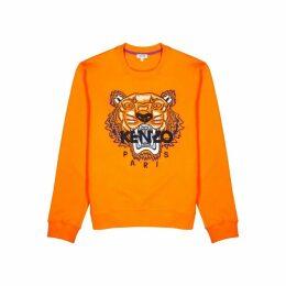 Kenzo Icon Orange Tiger-embroidered Sweatshirt
