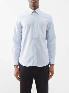 Stella Mccartney - Striped Trim Wool Track Jacket - Mens - Dark Blue