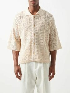 A.p.c. - Job Striped Cotton Blend Trousers - Mens - Grey