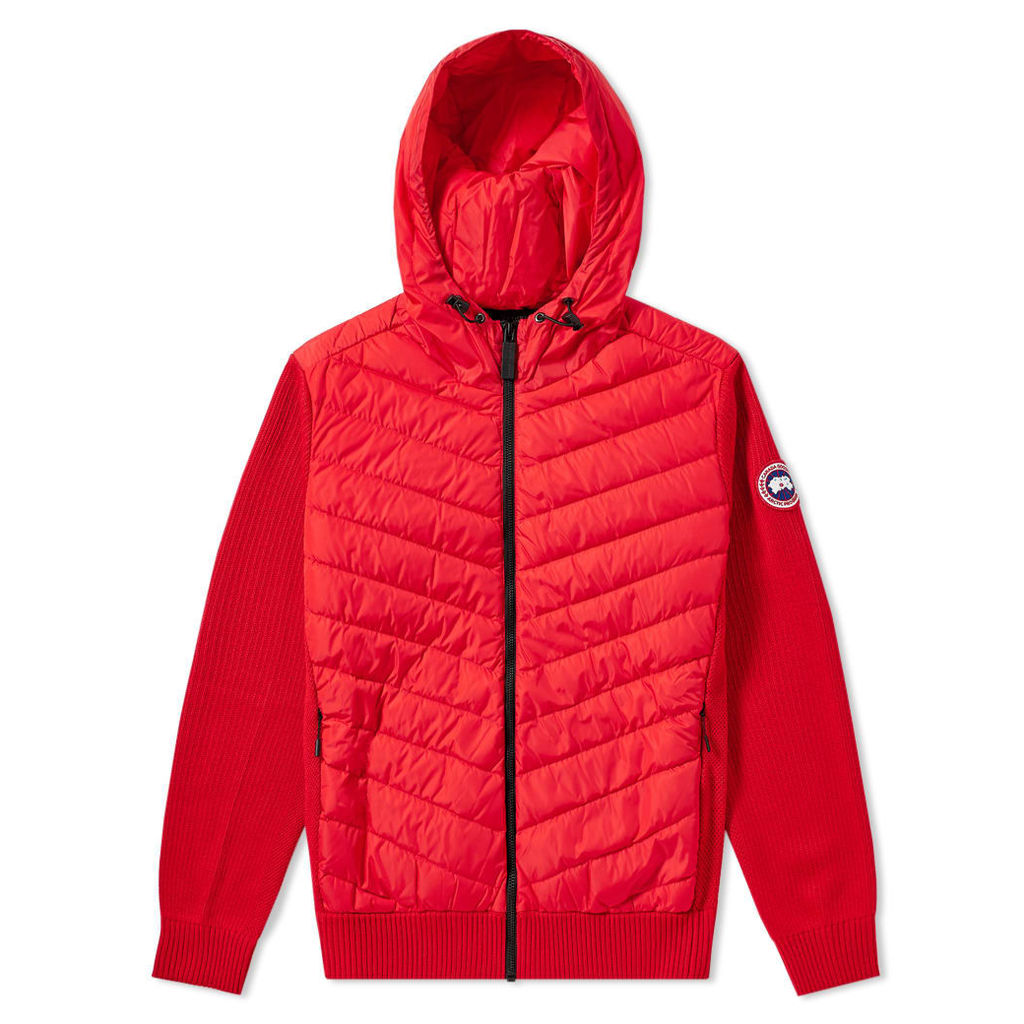 Canada Goose Hybridge Knit Hoody Red