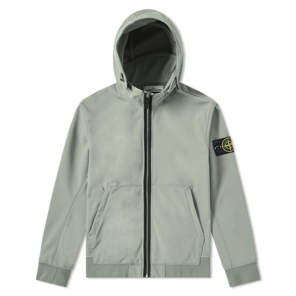 Stone Island Soft Shell R Fixed Hood Jacket Olive