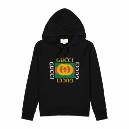 Gucci Logo-print Hooded Cottons Sweatshirt