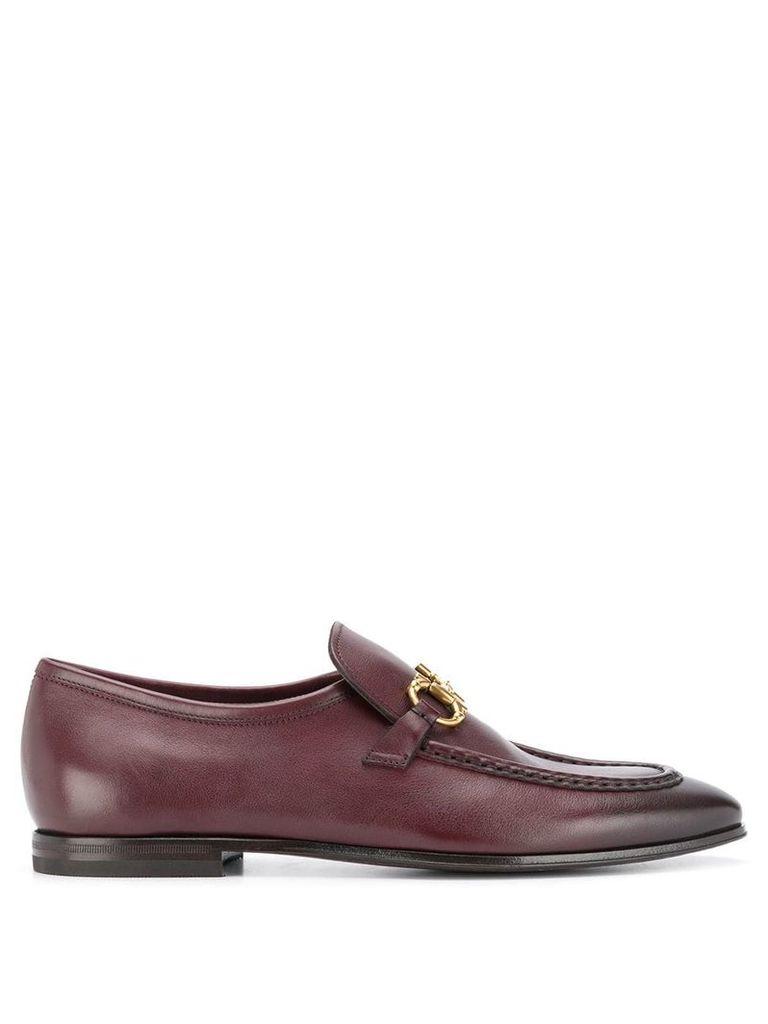 Salvatore Ferragamo horsebit detail loafers - Brown