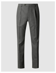M&S Collection Regular Fit Single Pleated Trousers