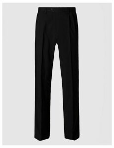 M&S Collection Regular Fit Twin Pleated Trousers