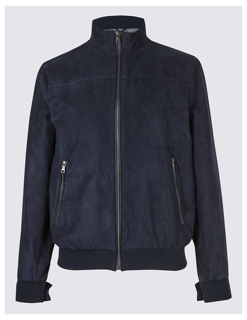 M&S Collection Faux Suede Bomber Jacket
