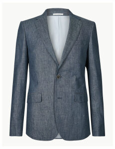 M&S Collection Slim Fit Linen Miracle Jacket