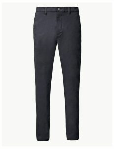 M&S Collection Shorter Length Skinny Fit Cotton Rich Chinos