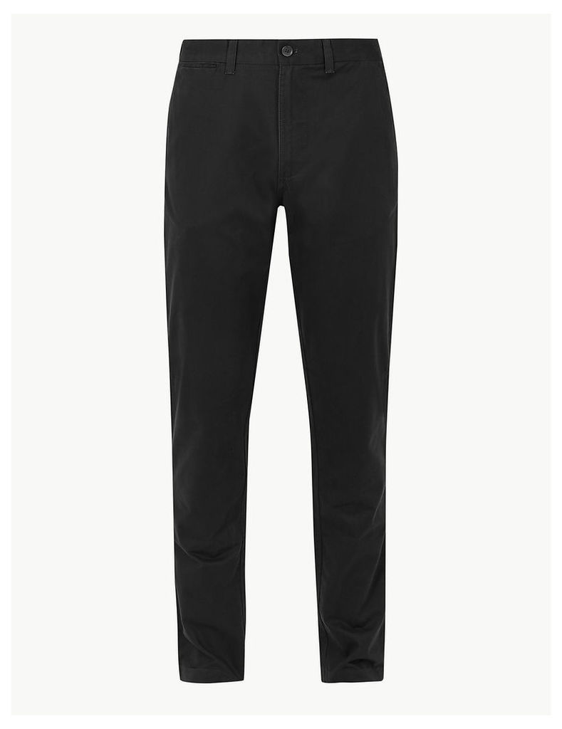 M&S Collection Tapered Fit Pure Cotton Chinos with Stormwear