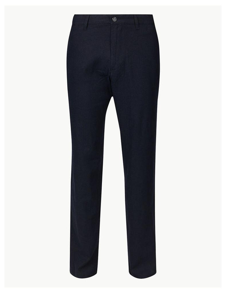 M&S Collection Linen Rich Trousers