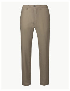 M&S Collection Linen Rich Trousers