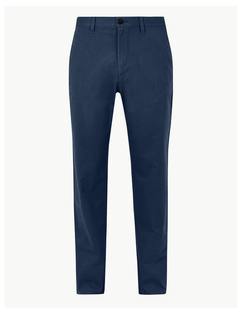 M&S Collection Regular Fit Cotton Rich Chinos with Stretch