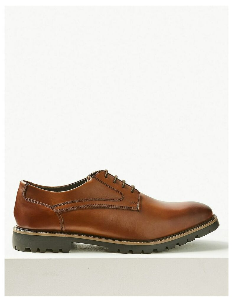 M&S Collection Leather Derby Lace-up Shoes