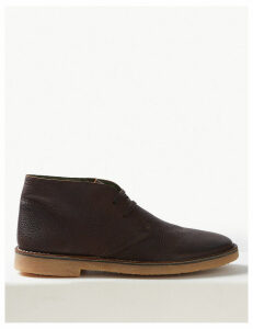 M&S Collection Leather Lace-up Desert Boots
