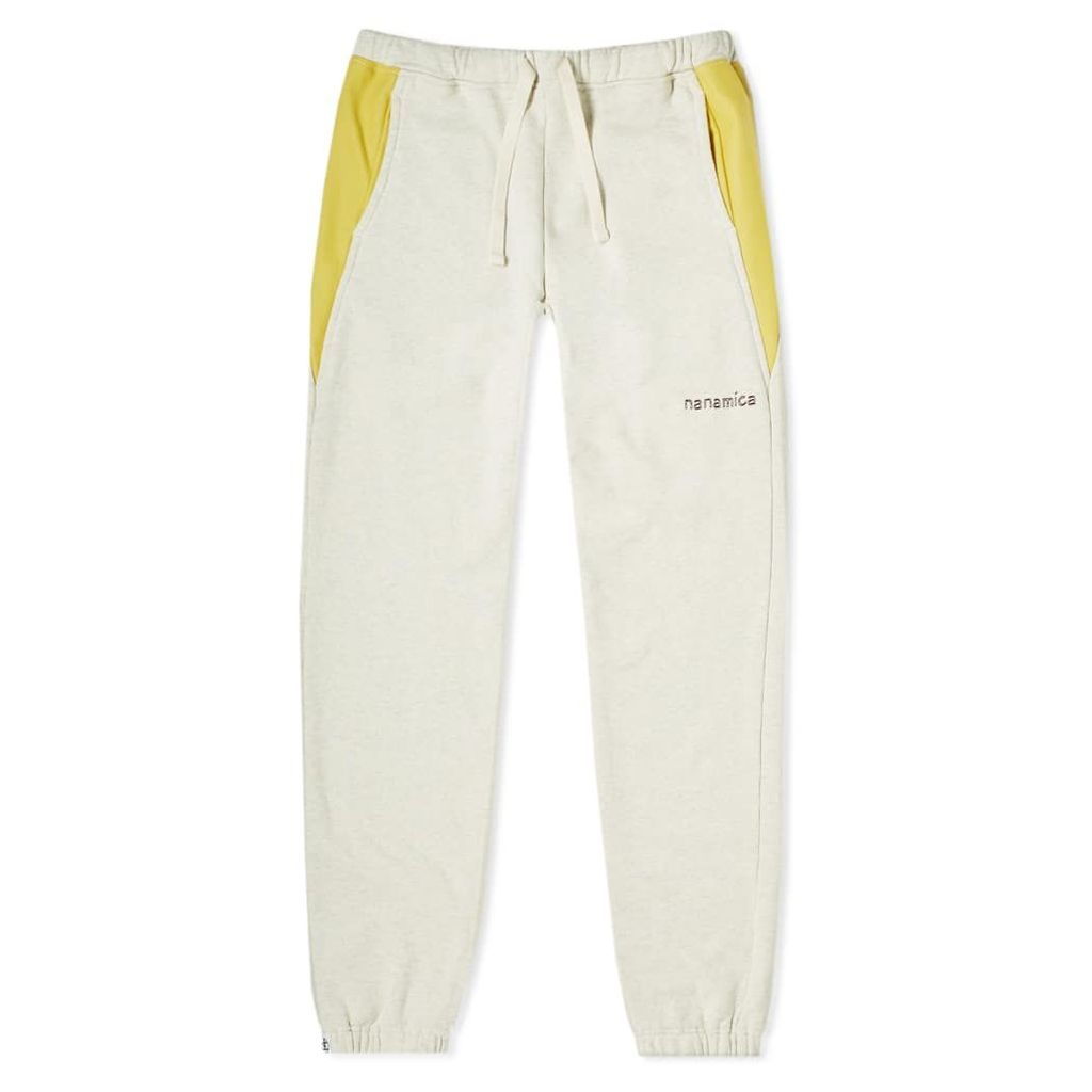 Nanamica Logo Sweat Pant Oatmeal Yellow
