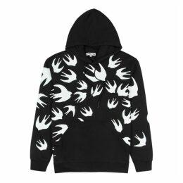 McQ Alexander McQueen Swallow-print Hooded Cotton Sweatshirt