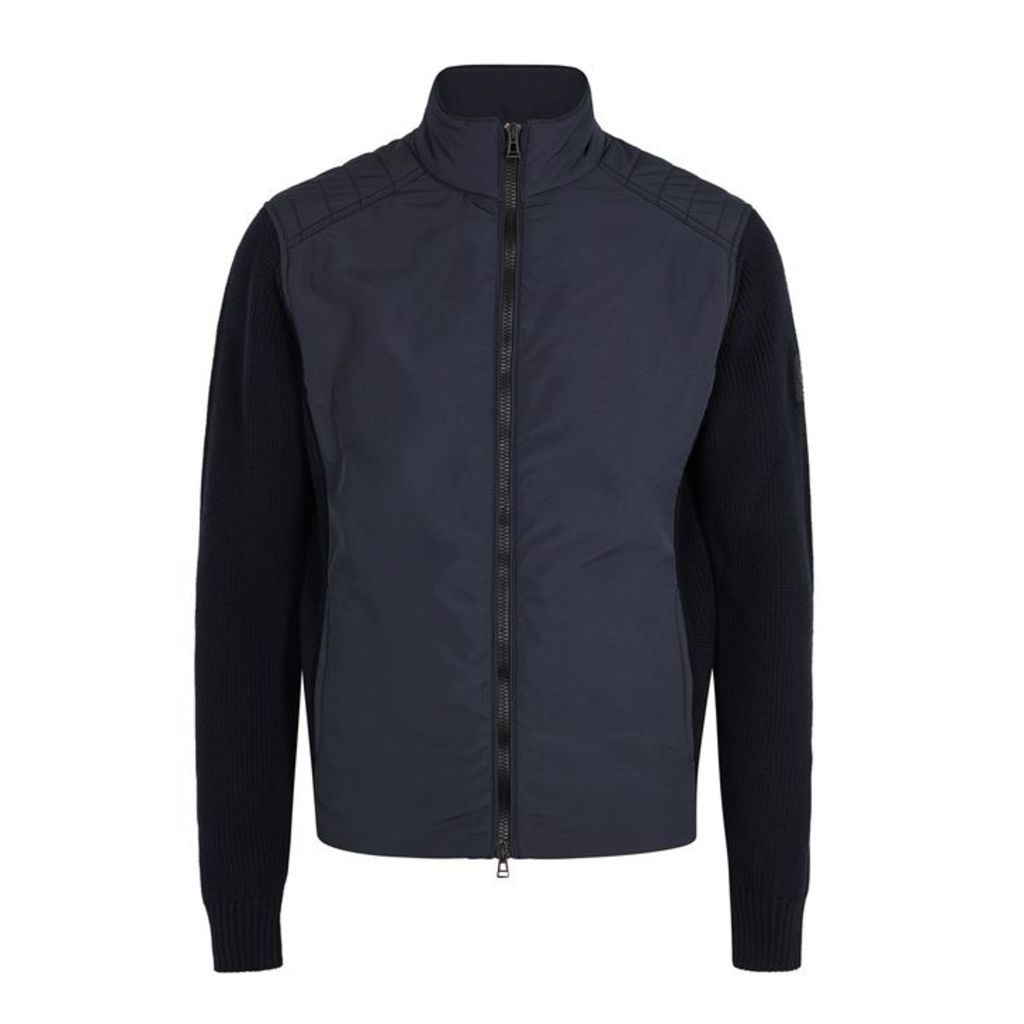 Belstaff Abbott Knitted Cotton And Shell Jacket