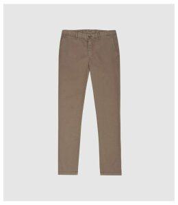 Reiss Fielder - Garment Dyed Slim Fit Chinos in Beige, Mens, Size 38