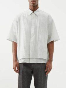 Ann Demeulemeester - Tapered Hemp Trousers - Mens - Black