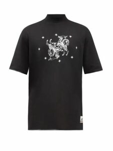 Raf Simons - Triple Neck Oversized Jacquard Sweater - Mens - Green